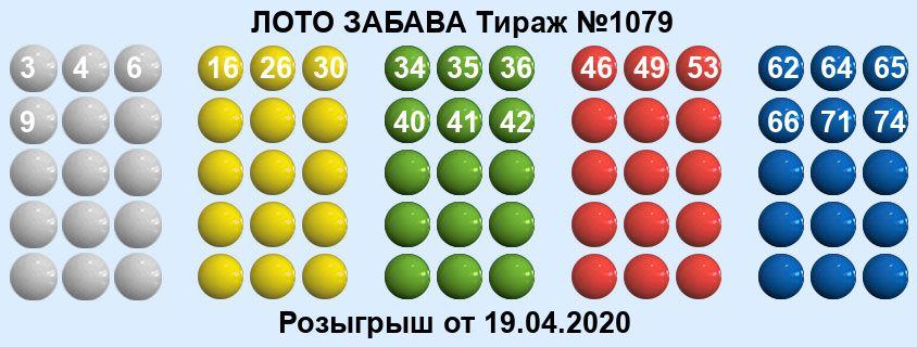 Тираж 1079