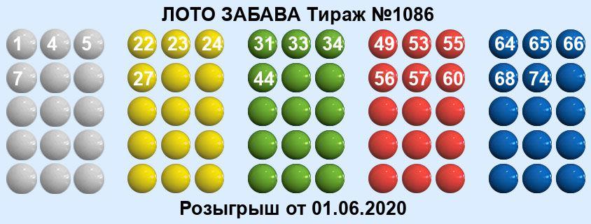 Тираж 1086