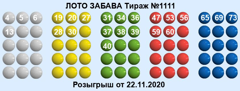Тираж 1111